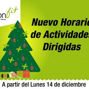 ¡Horario de Actividades de Navidad!