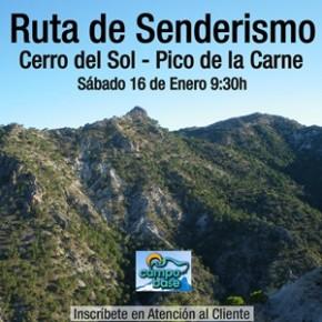 Ruta de senderismo Enero 2016 al Cerro del Sol  y Pico de la Carne