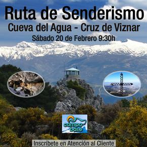 Ruta de senderismo Febrero 2016 a la Cueva del Agua y Cruz de Víznar